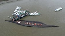 Rescue efforts near Nanjing on Tuesday.