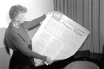 First Lady Eleanor Roosevelt was a big supporter of the UN and helped draft the Declaration of Human Rights